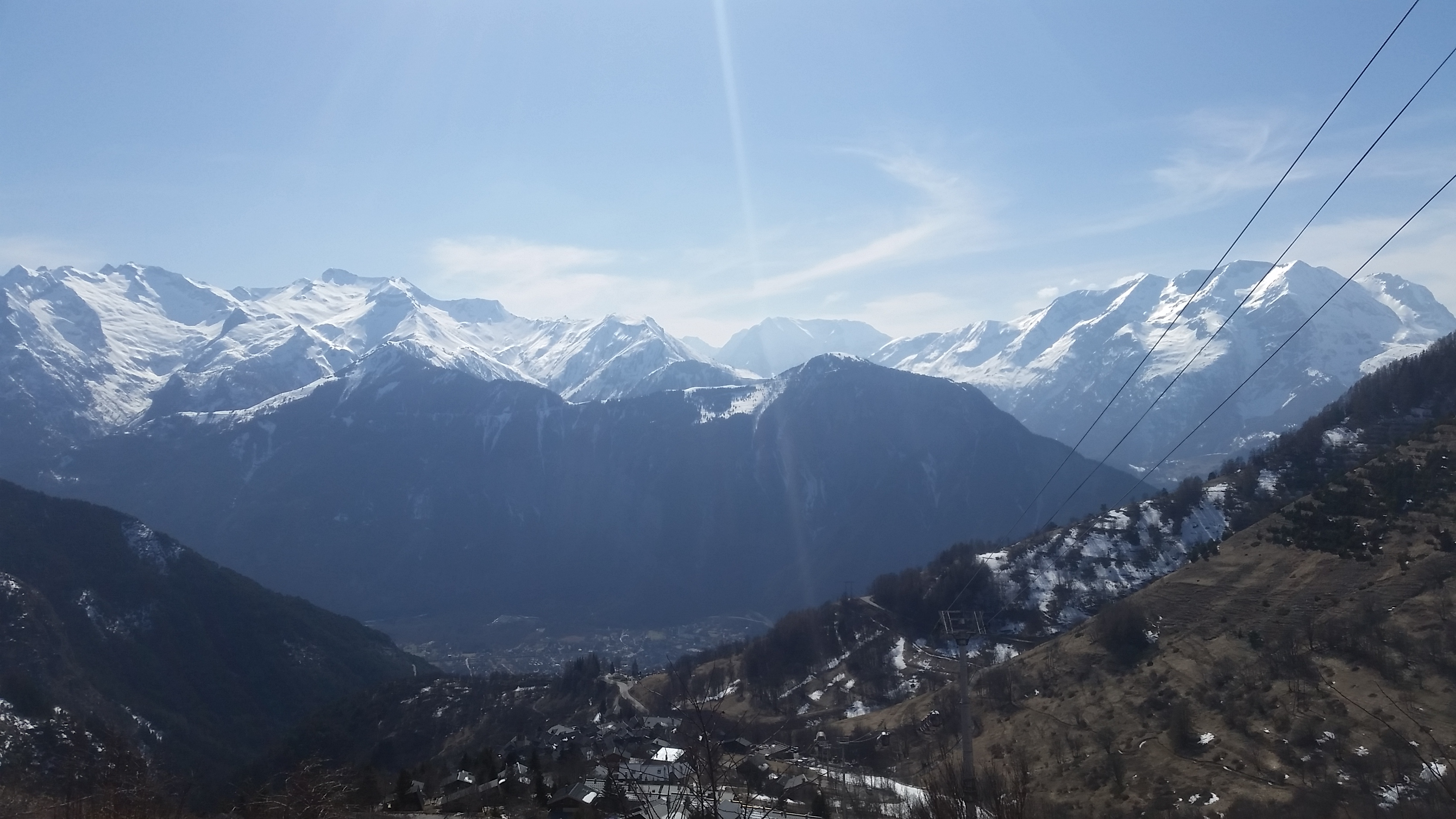 The view from the top of L'Alpe D'Huze